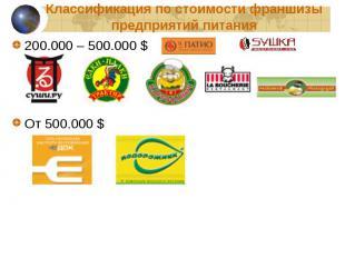 200.000 – 500.000 $ 200.000 – 500.000 $ От 500.000 $