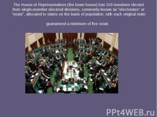 TheHouse of Representatives(the lower house) has 150 members elected