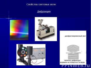 Свойства световых волн: Свойства световых волн: