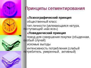Психографический принцип Психографический принцип общественный класс тип личност