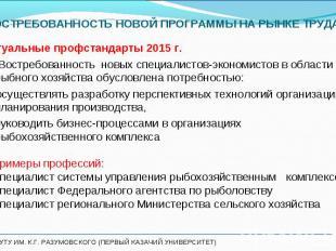 Актуальные профстандарты 2015 г. Актуальные профстандарты 2015 г. Востребованнос