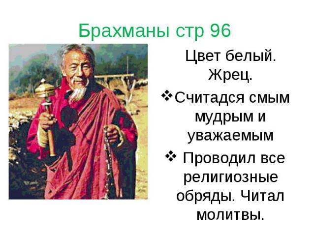 Цвет белый. Жрец. Цвет белый. Жрец. Считадся смым мудрым и уважаемым Проводил все религиозные обряды. Читал молитвы.