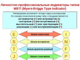 Типоведение различает четыре пары альтернатив. Типоведение различает четыре пары