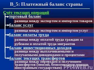 В_5: Платежный баланс страны