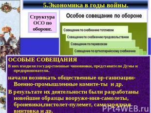 ОСОБЫЕ СОВЕЩАНИЯ ОСОБЫЕ СОВЕЩАНИЯ В них входили государственные чиновники, предс