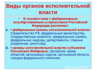 В соответствии с федеративным государственным устройством Российской Федерации р