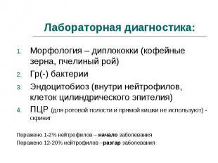 Морфология – диплококки (кофейные зерна, пчелиный рой) Морфология – диплококки (