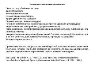 Критерии диагностики cистемной красной волчанки. Сыпь по типу «бабочки» на лице