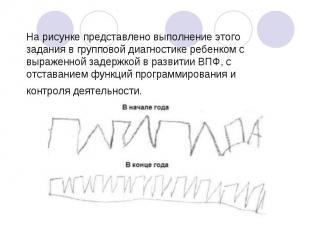 На рисунке представлено выполнение этого задания в групповой диагностике ребенко