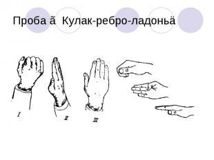 Проба ≪Кулак-ребро-ладонь≫