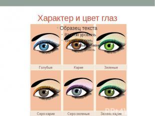 Характер и цвет глаз