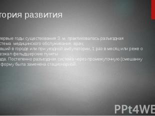 История развития ВпервыегодысуществованияЗ.м.&nbsp