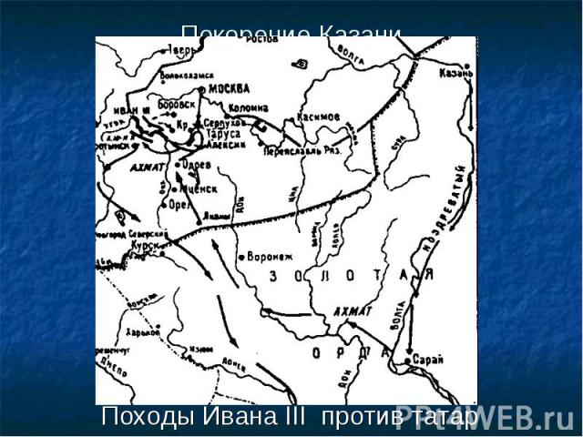 Походы Ивана III против татар Походы Ивана III против татар