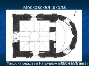 Трифона церковь в Напрудном в Москве. План Трифона церковь в Напрудном в Москве.