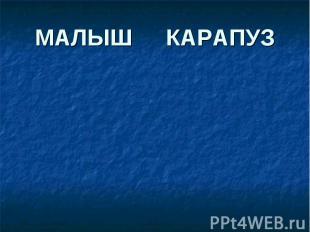 МАЛЫШ КАРАПУЗ
