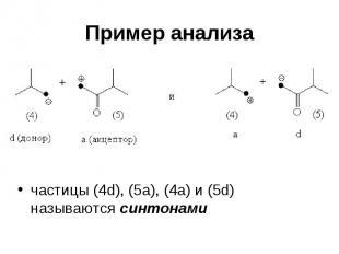 Пример анализа частицы (4d), (5a), (4a) и (5d) называются синтонами