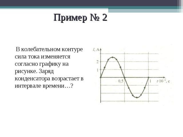 В колебательном контуре сила тока изменяется согласно графику на рисунке. Заряд конденсатора возрастает в интервале времени…? В колебательном контуре сила тока изменяется согласно графику на рисунке. Заряд конденсатора возрастает в интервале времени…?