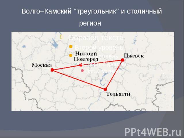 Волго–Камский ''треугольник'' и столичный регион