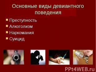 Преступность Преступность Алкоголизм Наркомания Суицид