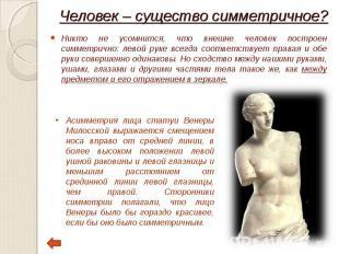 Никто не усомнится, что внешне человек построен симметрично: левой руке всегда с