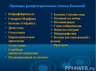 Нейрофиброматоз Нейрофиброматоз Синдром Марфана Болезнь Олбрайта Дизостозы Отоск