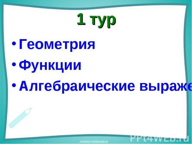 Геометрия Геометрия Функции Алгебраические выражения