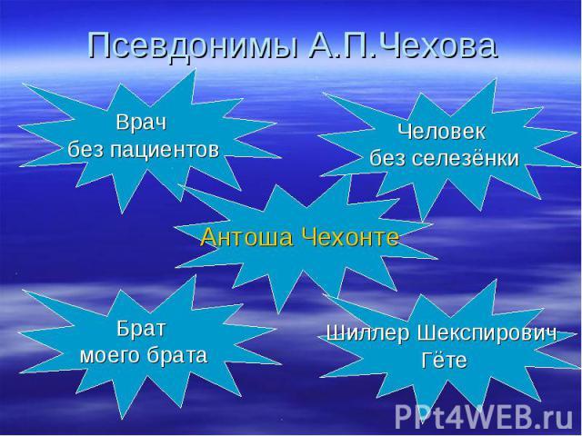 Псевдонимы А.П.Чехова