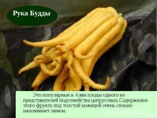 Это популярные в Азии плоды одного из представителей подсемейства цитрусовых.Сод