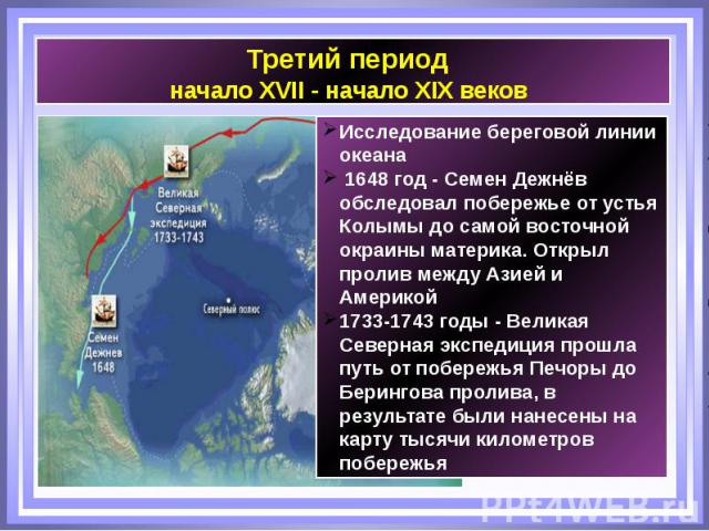Третий период начало XVII - начало XIX веков