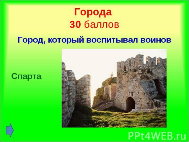 Город, который воспитывал воинов Город, который воспитывал воинов Спарта