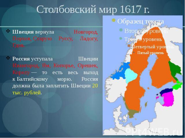Столбовский мир 1617 г.