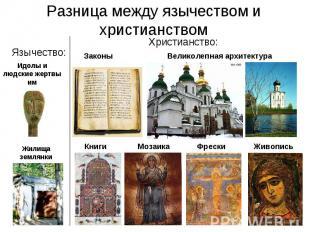 Разница между язычеством и христианством Язычество: