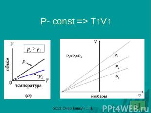 P- const => T↑V↑
