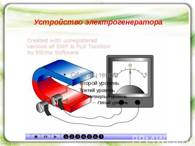 Устройство электрогенератора
