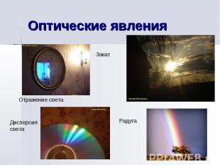 Оптические явления