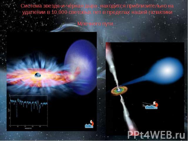 Система звезда-и-чёрная дыра находится приблизительно на удалении в 10,000 световых лет в пределах нашей галактики Млечного пути.