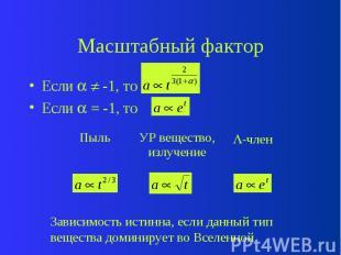 Масштабный фактор Если -1, то Если = -1, то