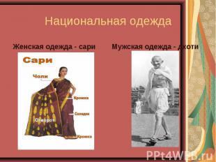 Женская одежда - сари Женская одежда - сари