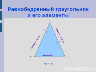 Равнобедренный треугольник и его элементы
