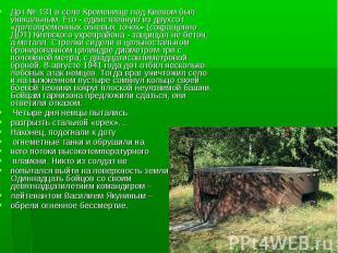 Дот № 131 в селе Кременище под Киевом был уникальным. Его - единственную из двух