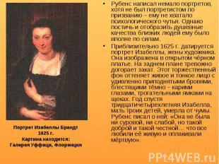 Рубенс написал немало портретов, хотя не был портретистом по призванию – ему не