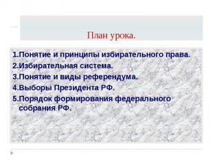 1.Понятие и принципы избирательного права. 1.Понятие и принципы избирательного п