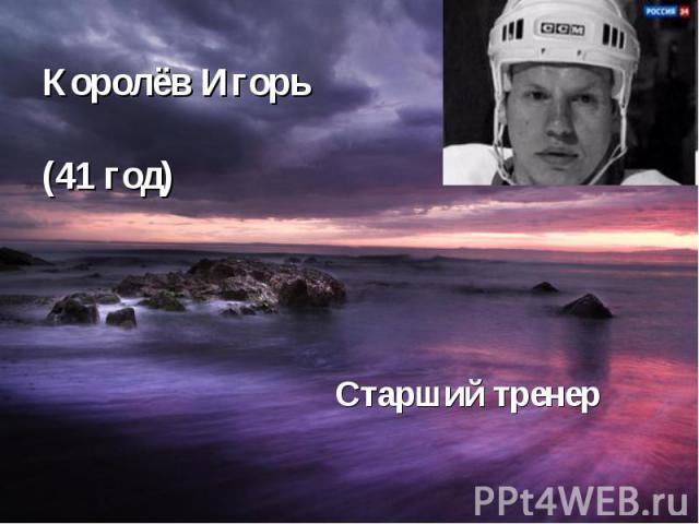 Королёв Игорь (41 год) Старший тренер