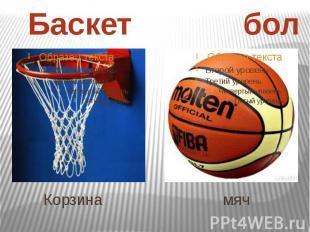 Корзина мяч Баскет