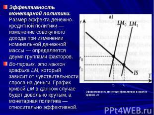 Эффективность монетарной политики. Размер эффекта денежно-кредитной политики — и