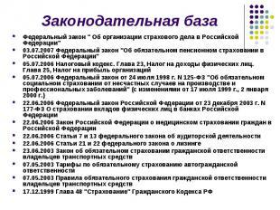 """Федеральный закон """" Об организации страхового дела в Российской Федерации&q"""