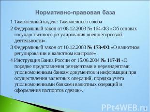 1 Таможенный кодекс Таможенного союза 1 Таможенный кодекс Таможенного союза 2 Фе