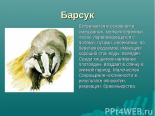 Встречается в основном в смешанных, мелколиственных лесах, перемежающихся с поля