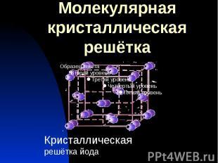 Молекулярная кристаллическая решётка