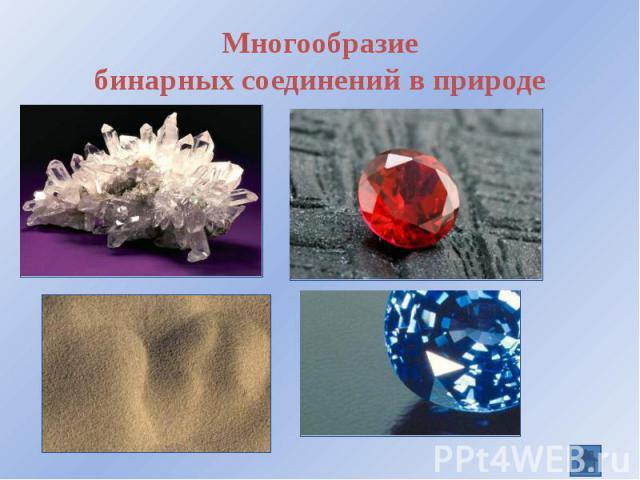 Многообразие бинарных соединений в природе